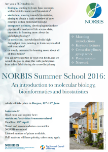 Invitation NORBIS Summer School 2016